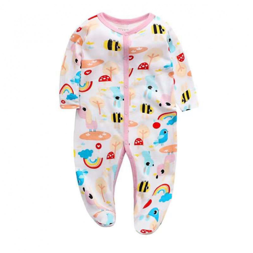 Baby Girl Coverall Busy Bees