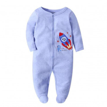 Baby Boy Coverall Blue rocket