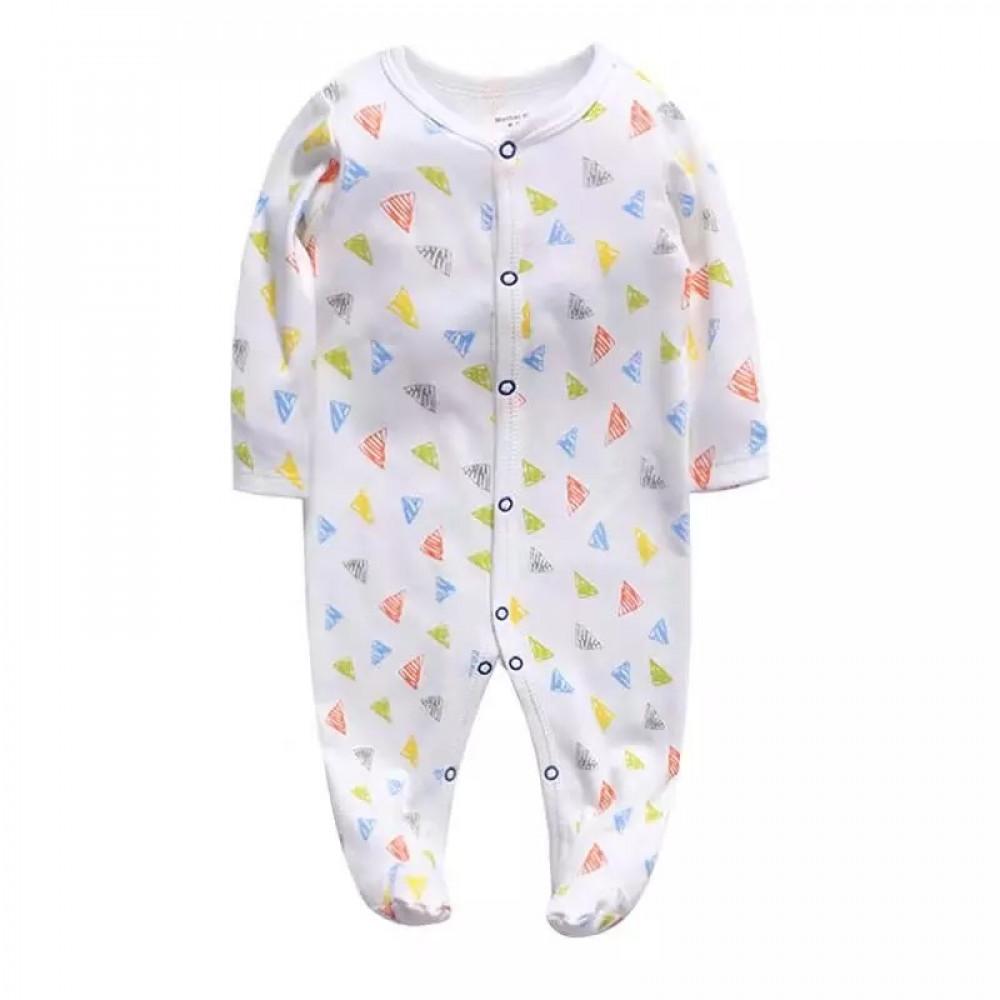 Baby Unisex Coverall White