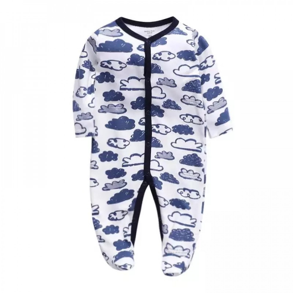 Baby Boy Coverall Clouds