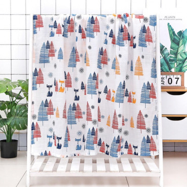 Colorful forest baby blanket