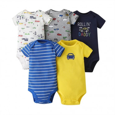 Rolling with my daddy baby boy bodysuit pack