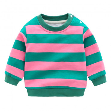Sleek With Stripes Pullover