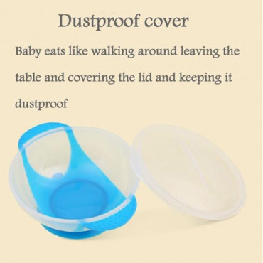 Baby Feeding Bowl With Suction Base and Temperature Sensing Spoon Set