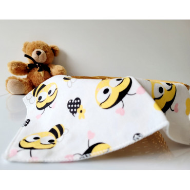 Bees and Lollies 4 Piece Baby Bibs Set
