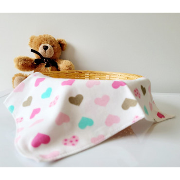 Cute Animals and Hearts 4 Piece Baby Bibs Set