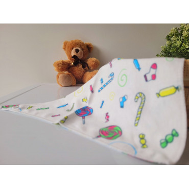 Fruits and Cup Cakes 4 Piece Baby Bibs Set