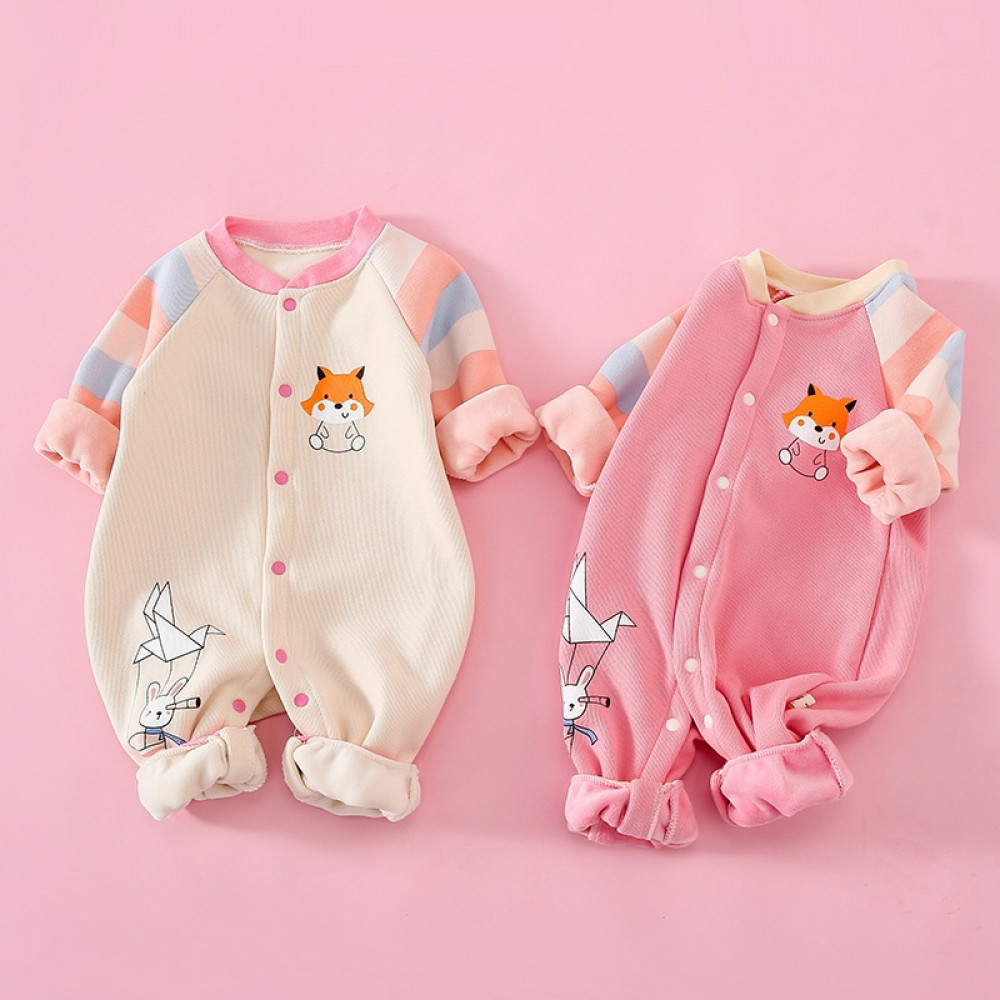 Baby Girl Long Sleeve Jumpsuit Pink stripes