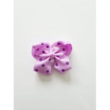 Bow Knot Girl Hair clips with polka dots