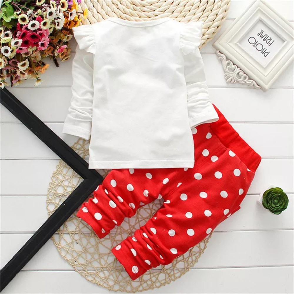 Baby Girls long sleeve 2 Piece Minnie Mouse Red top &  Bottom
