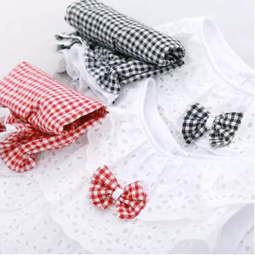 Toddler Kids Baby Girls Grey Lace Plaid Sleeveless Top and Pant
