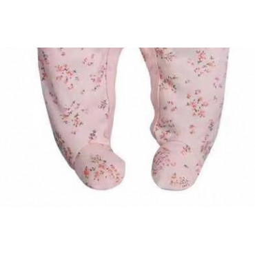 Adorable Pink Floral Baby Girl Jumpsuit