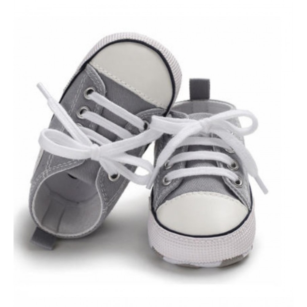 Baby Canvas Shoes Grey